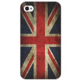 "Чехол для iPhone 4/4S ""Британский флаг в стиле гранж"" - grunge, гранж, арт, flag, england, uk, britain"