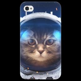 """Чехол для iPhone 4/4S """"Котосмонавт"""" - кот, космос, животное, костюм"""