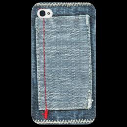 """Чехол для iPhone 4/4S """"Джинса"""" - стиль, стильный, джинсы, джинса, джинсовый"""
