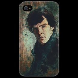 """Чехол для iPhone 4/4S """"Шерлок Холмс"""" - арт, шерлок холмс, sherlock holmes, detective, bbc, детектив"""