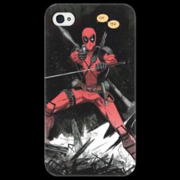 "Чехол для iPhone 4/4S ""Дэдпул (Deadpool)"" - комиксы, deadpool, марвел, дэдпул"