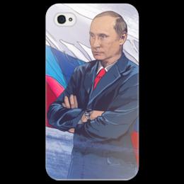 "Чехол для iPhone 4/4S ""Путин"" - путин, putin, наш лидер"