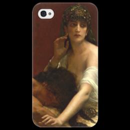 """Чехол для iPhone 4/4S """"Самсон и Далила (картина Кабанеля)"""" - картина, кабанель"""