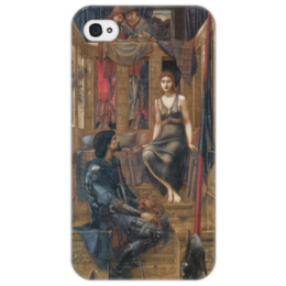 """Чехол для iPhone 4/4S """"Король Кофетуа и нищенка"""" - картина, бёрн-джонс"""
