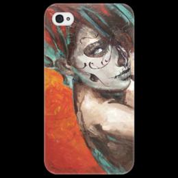 """Чехол для iPhone 4/4S """"Skull girl"""" - череп, девушка, смерть, санта муерте, santa muerte"""