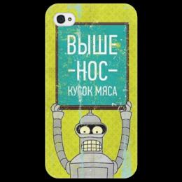 "Чехол для iPhone 4/4S ""Bender"" - футурама, futurama, бендер"