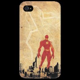 "Чехол для iPhone 4/4S ""The Flash"" - комиксы, dc, флэш, the flash, лига справедливости"