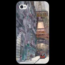 """Чехол для iPhone 4/4S """"Une parisienne"""" - любовь, арт, рисунок, париж, пастель"""