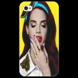 """Чехол для iPhone 4/4S """"лана дель рей"""" - lana del rey, лана дель рей"""