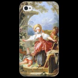 """Чехол для iPhone 4/4S """"Игра в прятки"""" - картина, фрагонар"""