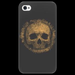 """Чехол для iPhone 4/4S """"Skull Design"""" - арт, рок, оригинально"""