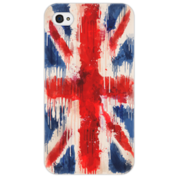 "Чехол для iPhone 4/4S ""British Flag Drip"" - flag, uk, shapdesign, british flag, british, drip"