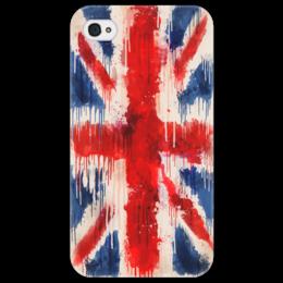"Чехол для iPhone 4/4S ""British Flag Drip"" - flag, uk, shapdesign, british flag, british, drip"