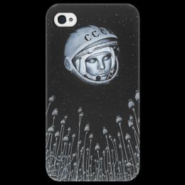 """Чехол для iPhone 4/4S """"Гагарин"""" - ссср, космос, гагарин, портрет, юра, космонавт"""
