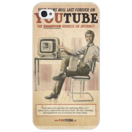 "Чехол для iPhone 4/4S ""YouTube Retro"" - арт, рисунок, оригинально, креативно"