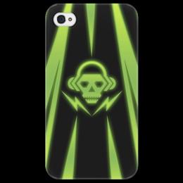"Чехол для iPhone 4/4S ""Skull"" - skull, music, dubstep"