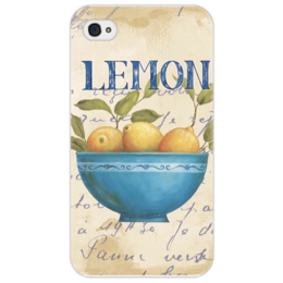 "Чехол для iPhone 4/4S ""Лемон "" - арт, summer, yellow, blue, lemon, лемон"