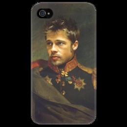 "Чехол для iPhone 4/4S ""Brad Pitt"" - арт, оригинально, actor, brad pitt, брэд питт, officer, офицер"