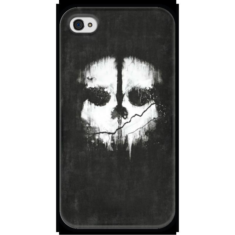 Чехол для iPhone 4 глянцевый, с полной запечаткой Printio Call of duty: ghosts футболка с полной запечаткой для мальчиков printio кал оф дьюти call of duty игры