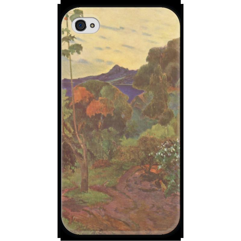 Чехол для iPhone 4 глянцевый, с полной запечаткой Printio Тропические растения