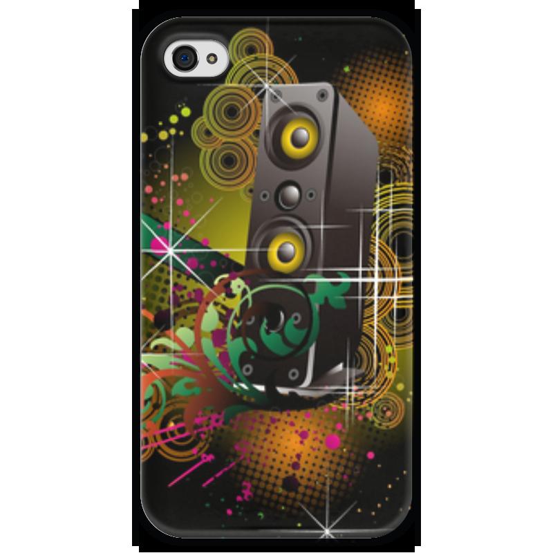 Чехол для iPhone 4 глянцевый, с полной запечаткой Printio Music abstract чехол для iphone 4 глянцевый с полной запечаткой printio эфиопка