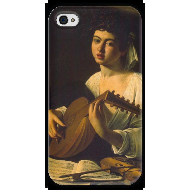Чехол для iPhone 4 глянцевый, с полной запечаткой Printio Лютнист (караваджо) караваджо