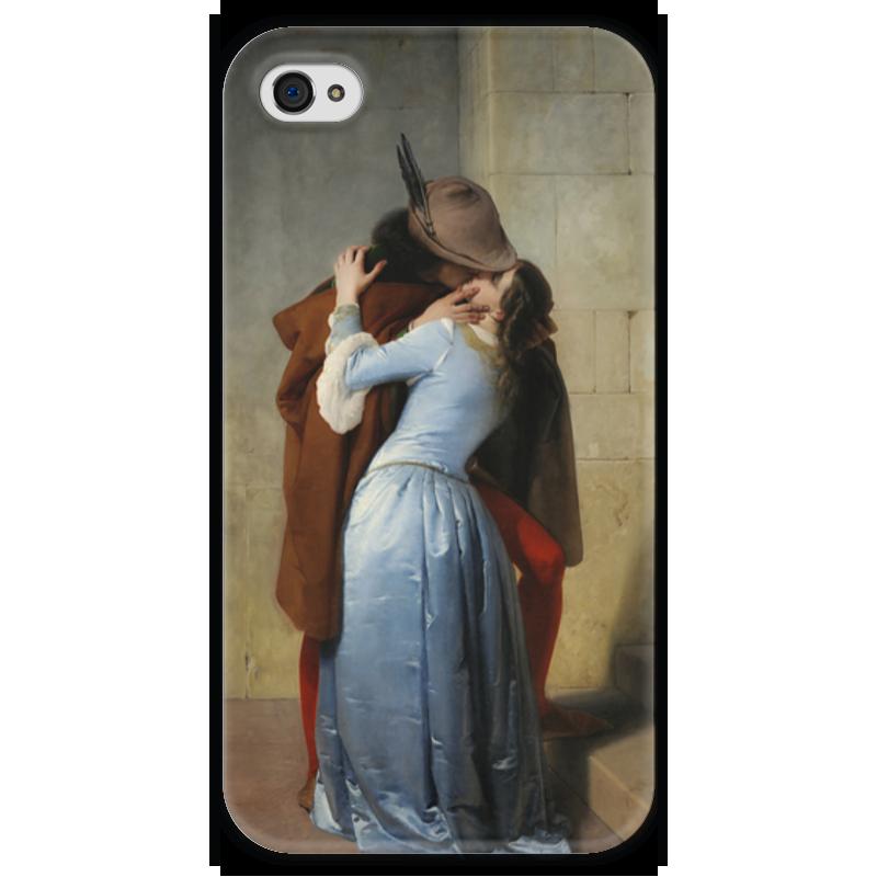 Чехол для iPhone 4 глянцевый, с полной запечаткой Printio Поцелуй (франческо айец) где в коломне сумку женскую франческо маркони