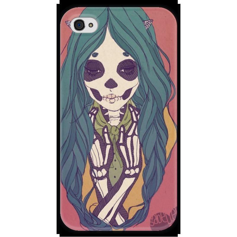 Чехол для iPhone 4 глянцевый, с полной запечаткой Printio Skeleton girl чехол для iphone 4 глянцевый с полной запечаткой printio эфиопка