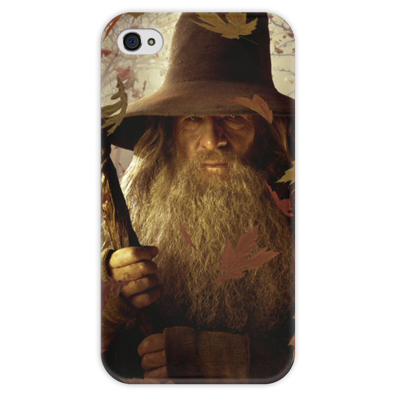 Чехол для iPhone 4 глянцевый, с полной запечаткой Printio Гэндальф чехол для iphone 4 глянцевый с полной запечаткой printio челси