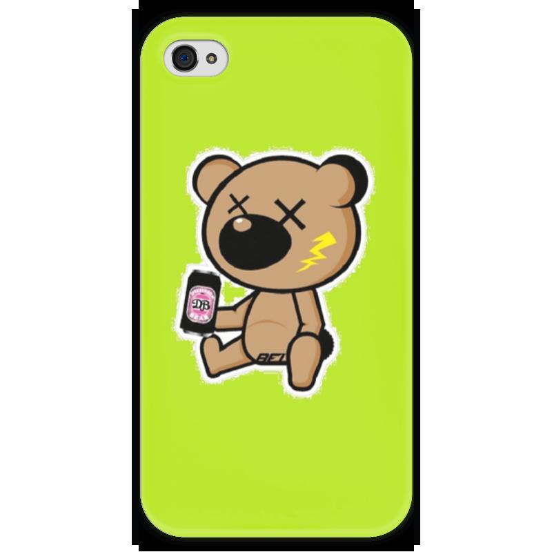 Чехол для iPhone 4 глянцевый, с полной запечаткой Printio Bear & beer чехол для iphone 4 глянцевый с полной запечаткой printio эфиопка