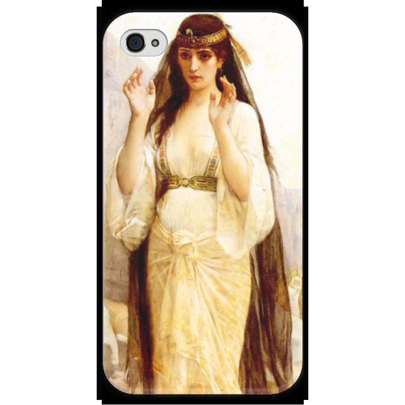 Чехол для iPhone 4 глянцевый, с полной запечаткой Printio Дочь иеффая (картина кабанеля) цена