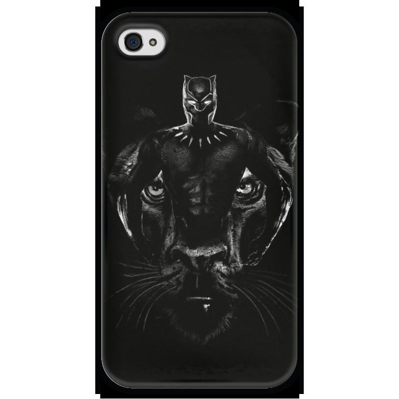 Чехол для iPhone 4 глянцевый, с полной запечаткой Printio Черная пантера чехол для iphone 4 глянцевый с полной запечаткой printio эфиопка