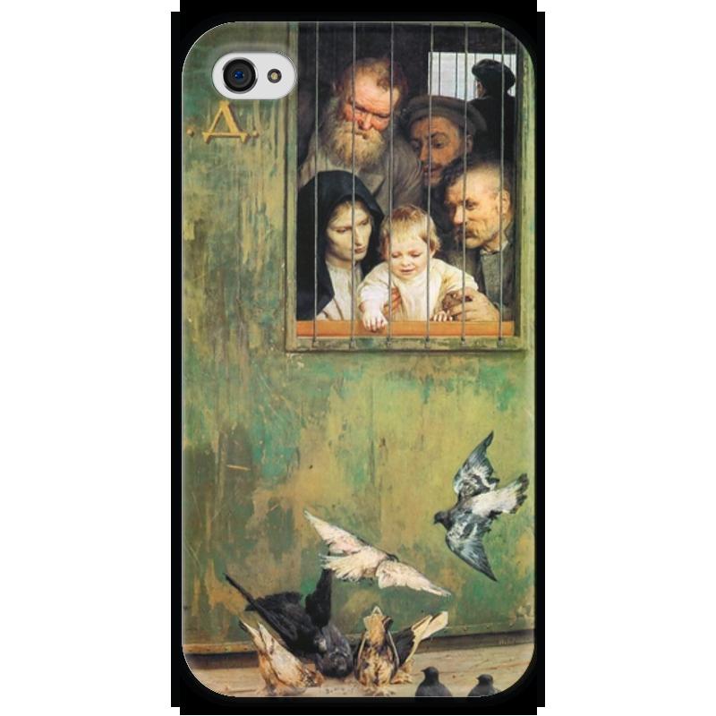 Чехол для iPhone 4 глянцевый, с полной запечаткой Printio Всюду жизнь (картина николая ярошенко) хетч б всюду третий лишний