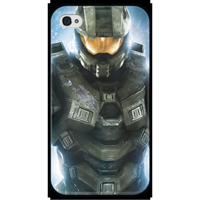 Чехол для iPhone 4 глянцевый, с полной запечаткой Printio Halo halo 4 xbox 360