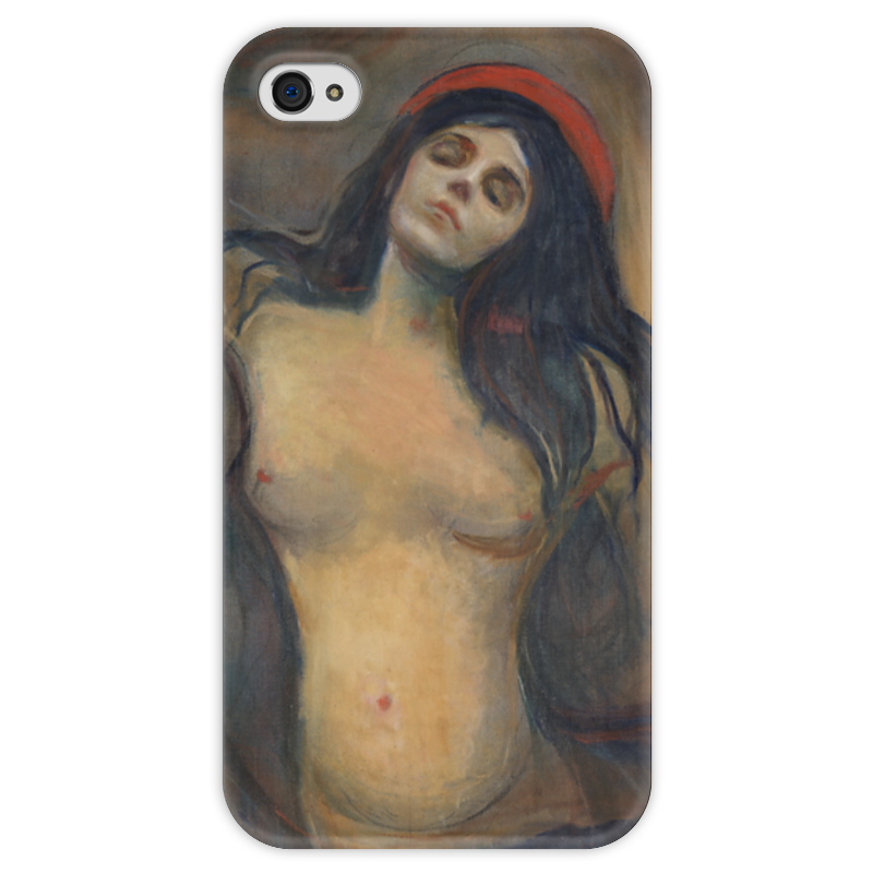 Чехол для iPhone 4 глянцевый, с полной запечаткой Printio Мадонна (картина мунка) серова м мадонна с калашниковым