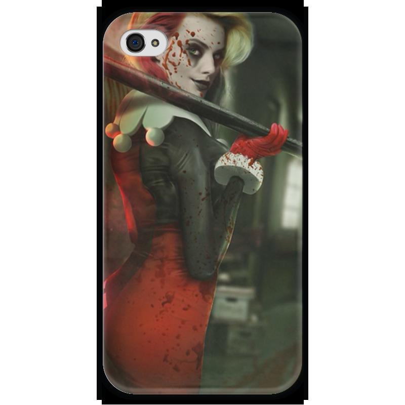 Чехол для iPhone 4 глянцевый, с полной запечаткой Printio Харли квинн чехол для iphone 4 глянцевый с полной запечаткой printio эфиопка