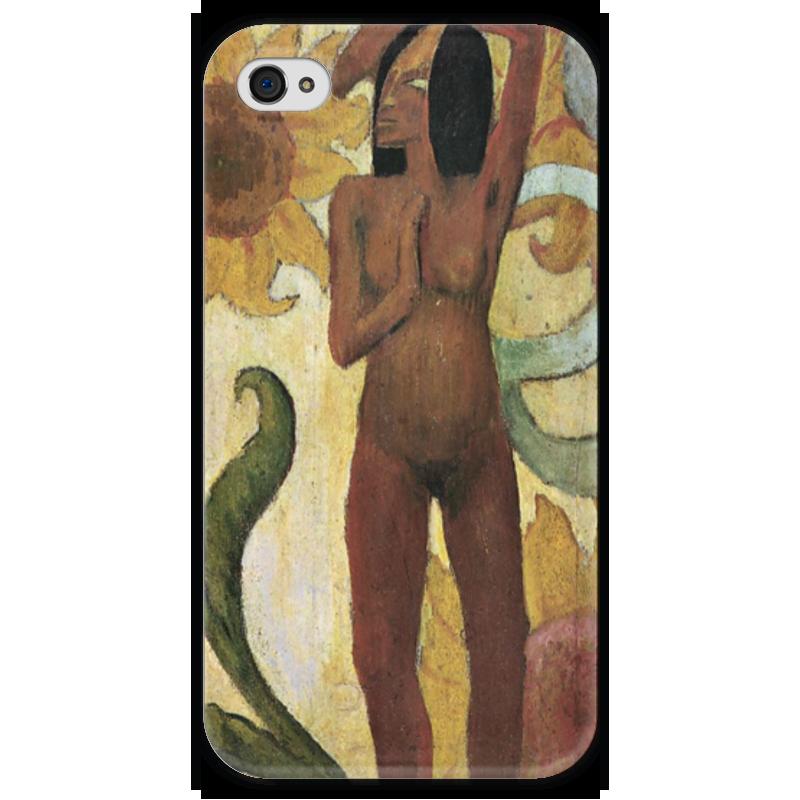 Чехол для iPhone 4 глянцевый, с полной запечаткой Printio Карибская женщина, или обнаженная с подсолнухами карибская пиратка
