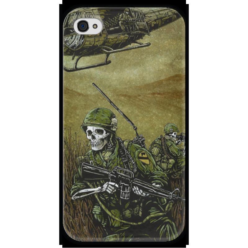 Чехол для iPhone 4 глянцевый, с полной запечаткой Printio Война чехол для iphone 4 глянцевый с полной запечаткой printio фруктовый сад в цвету
