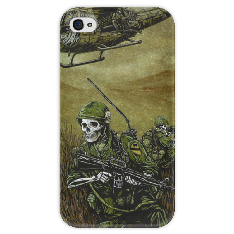 Чехол для iPhone 4 глянцевый, с полной запечаткой Printio Война чехол для iphone 4 глянцевый с полной запечаткой printio supreme