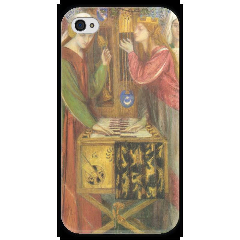Чехол для iPhone 4 глянцевый, с полной запечаткой Printio Голубой кабинет (данте габриэль россетти) домашний кабинет