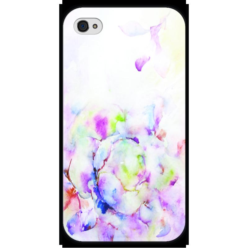 Чехол для iPhone 4 глянцевый, с полной запечаткой Printio Распускающаяся роза пламенная роза тюдоров