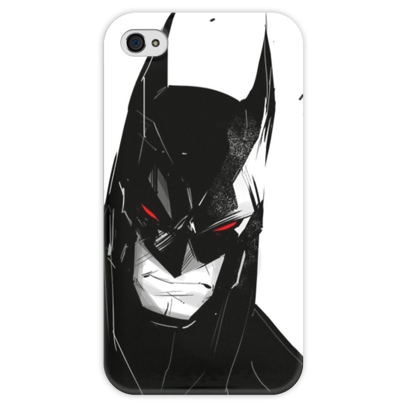 Чехол для iPhone 4 глянцевый, с полной запечаткой Printio Бэтмен чехол для iphone 4 глянцевый с полной запечаткой printio пиво