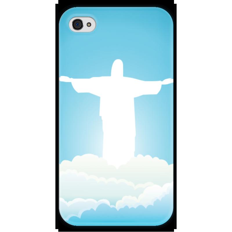 Чехол для iPhone 4 глянцевый, с полной запечаткой Printio Иисус христос вышивка бисером молящийся христос