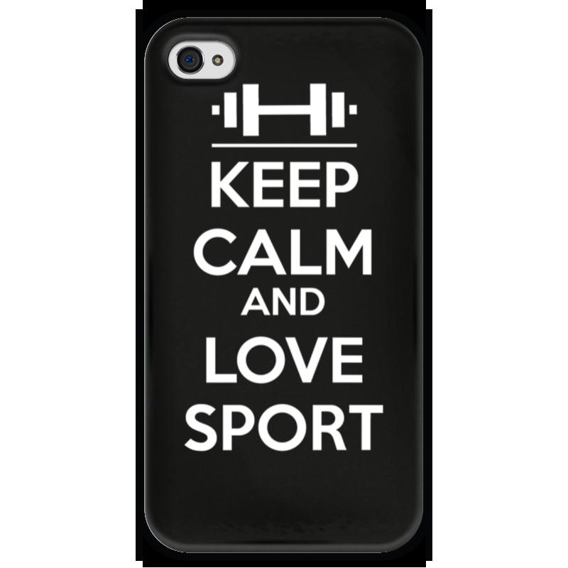 Чехол для iPhone 4 глянцевый, с полной запечаткой Printio Keep calm and love sport sahar cases чехол keep calm and love me iphone 5 5s 5c