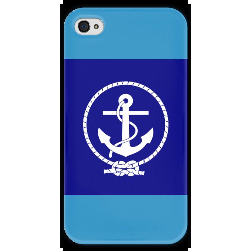 Чехол для iPhone 4 глянцевый, с полной запечаткой Printio Морской разведчик чехол для iphone 4 глянцевый с полной запечаткой printio эфиопка