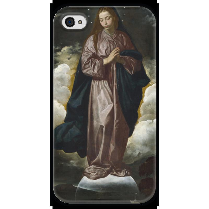 Чехол для iPhone 4 глянцевый, с полной запечаткой Printio Непорочное зачатие чехол для iphone 4 глянцевый с полной запечаткой printio эфиопка