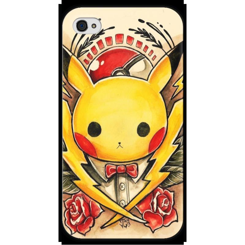 Чехол для iPhone 4 глянцевый, с полной запечаткой Printio Pikachu чехол для iphone 4 глянцевый с полной запечаткой printio штурмовик