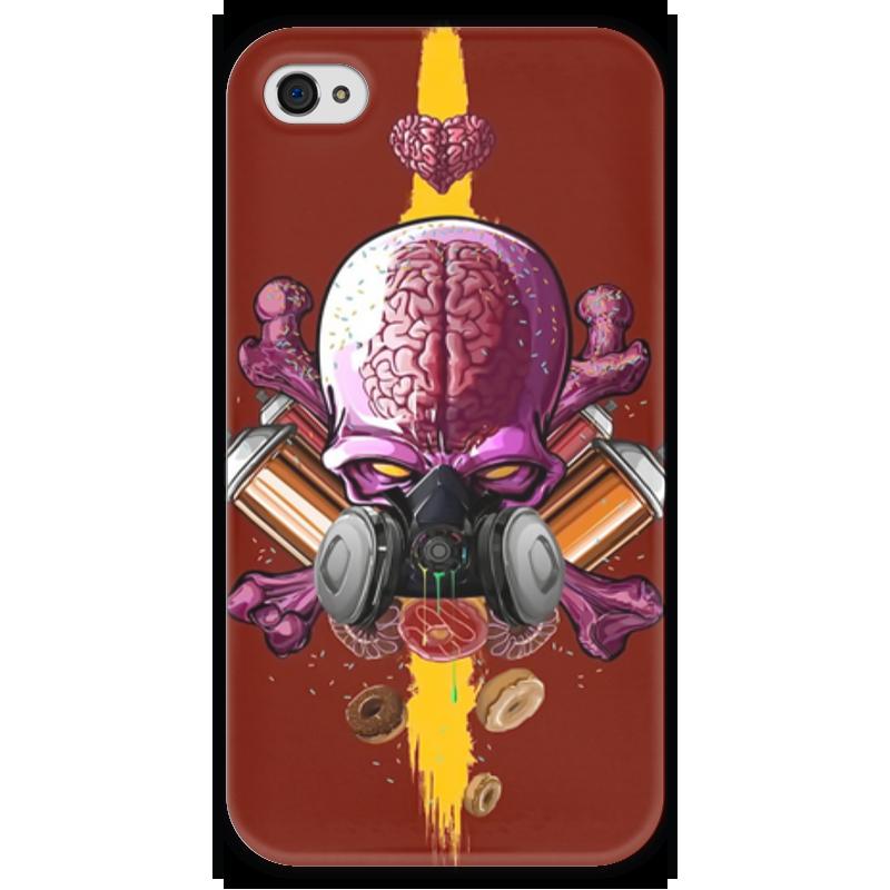 Чехол для iPhone 4 глянцевый, с полной запечаткой Printio Граффити арт чехол для iphone 4 глянцевый с полной запечаткой printio эфиопка