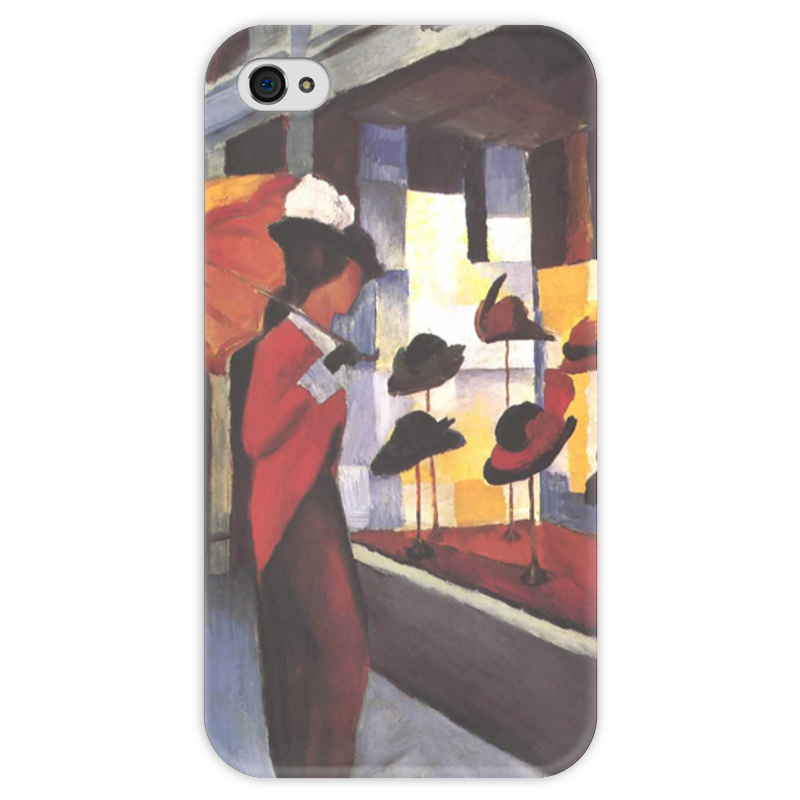 Чехол для iPhone 4 глянцевый, с полной запечаткой Printio Шляпный магазин (август маке) чехол для iphone 4 глянцевый с полной запечаткой printio шляпный магазин август маке