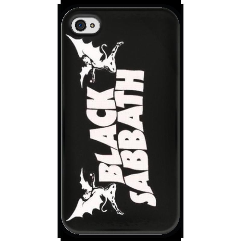 Чехол для iPhone 4 глянцевый, с полной запечаткой Printio Black sabbath чехол для iphone 4 глянцевый с полной запечаткой printio эфиопка